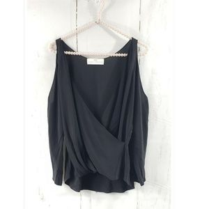 Amanda Uprichard Silk Crossover Cutout Shoulder